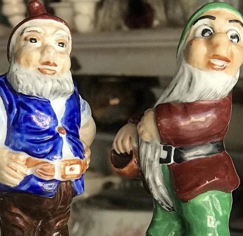 Imagen 1 de 4 de Figuras Enanos De Porcelana Antigua