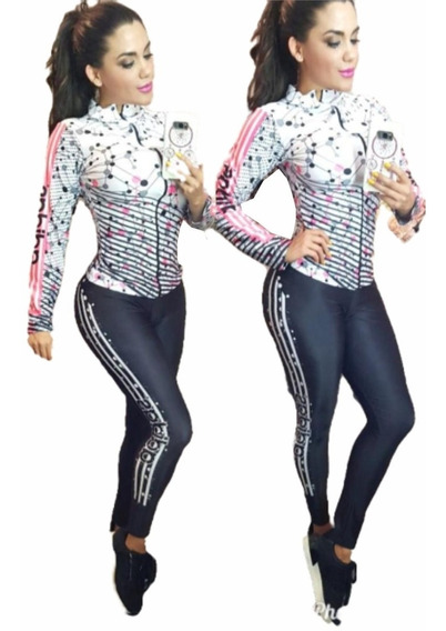 Conjunto Deportivo Sublimado Nailon Spandex Gym Sport Fit