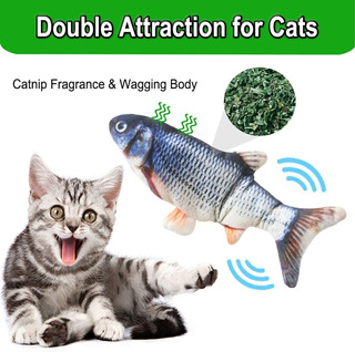 Juguete En Forma De Pez Electrico Para Gato Con Hierba