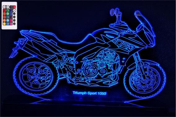 Luminária Led 3d Triumph Sport 1050 - 16 Cores Controle