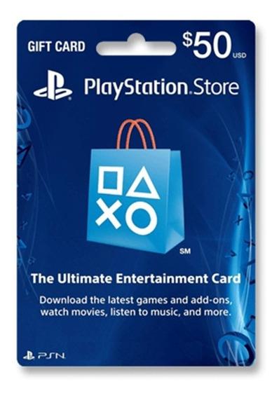 Tarjeta Psn 50 U$ Usa Ps3 Ps4 Digital   Entrega Inmediata - Gamer24hs