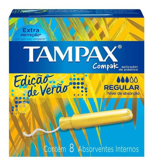 Absorvente Interno Tampax Compak Regular 8 Unidades