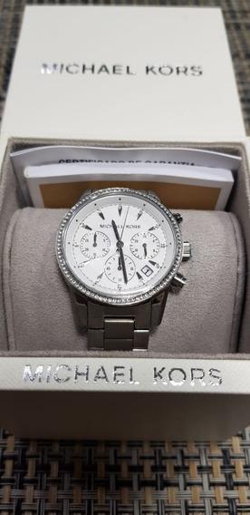 Relógio Feminino Michael Kors Mk6428 1kn Prata 100% Original
