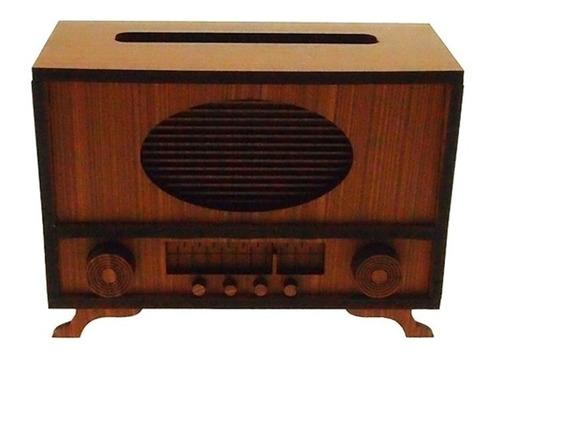 Radio Retro Decorativo Amarelo