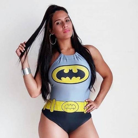 Body Batman Batgirl Feminino Carnaval Roupas Femininas