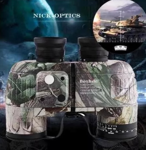 Binóculos Militares Resistentes À Água 10x50 Com Telêmetro