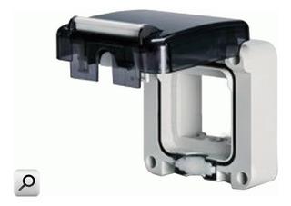 Caja Dom; Marco Vacio Para 2 Modulos 137.002 Protecta