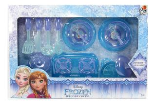 Set De Trastes Y Utensilios De Cocina Frozen Juguete Niñas
