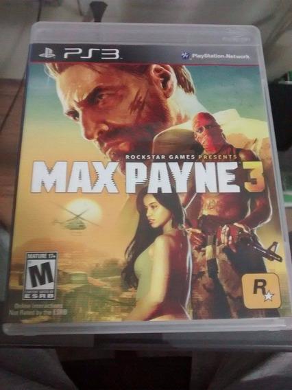Max Payne 3 Ps3 (semi Novo)