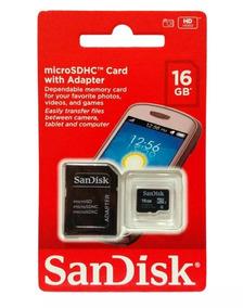 Cartão De Memória Micro Sd 16gb Sandisk Original Barato