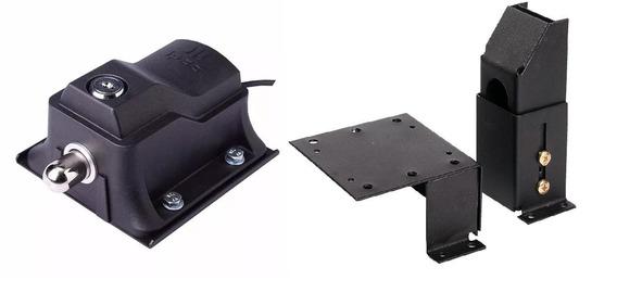 Kit Trava Portão Com Temporizador 220v E Suporte Ipec