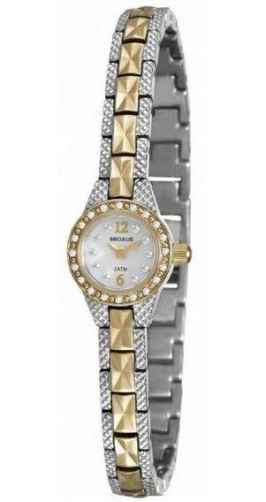 Relógio Seculus Feminino 20452lpsvba2 Social Mini Bicolor