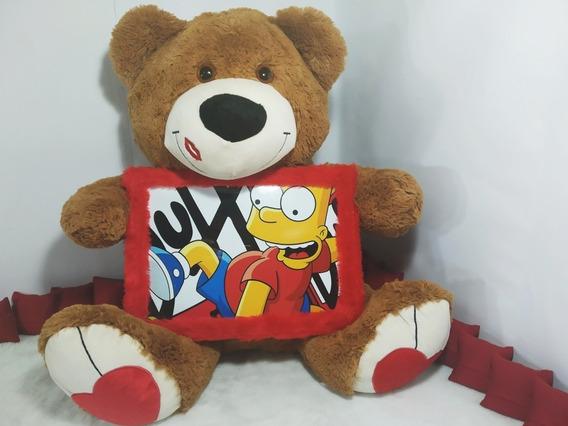Urso Porta Retrato+sua Foto Revalada Presente Namoro