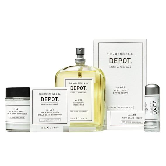 Protector Depot 401 + Aftershave 407 + Lapiz Astringente
