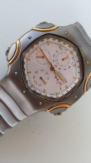 Raríssimo Relógio Citizen - Titânio E Ouro 18k - Um Luxo Só
