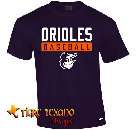 Playera Beisbol Mlb Orioles B Mod L By Tigre Texano Designs