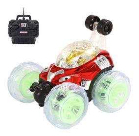Carro De Controle Remoto Maluco Gira 360º Com Luzes Na Caixa