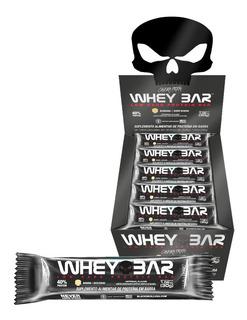 Whey Bar Low Carb - 24 Unidades - Black Skull