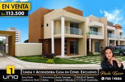 Casa En Venta En Condominio Zona Norte