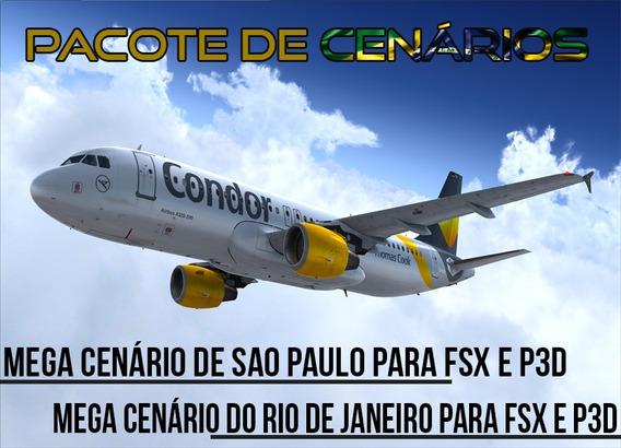 Pacote Cenário Mega Sao Paulo E Rio De Janeiro - Fsx E P3d