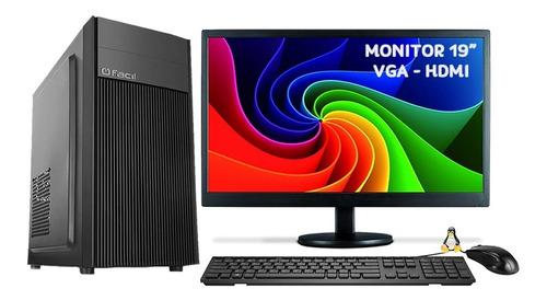Computador Intel Core I5 4gb Hd 500gb + Monitor Led 19