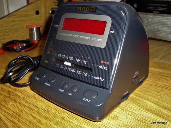 Radio Relógio Antigo Vintage Aiwa Fr-a250