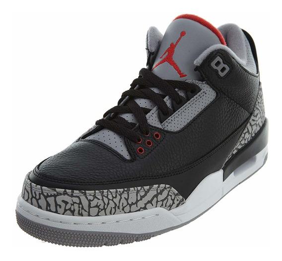 Tenis Jordan 3 Retro Black Ciment