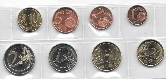 Serie 8 Monedas Euro Letonia Año 2014 Sin Circular