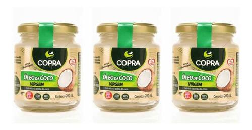 Imagem 1 de 1 de Copra Óleo De Coco Virgem 200ml (kit C/03)