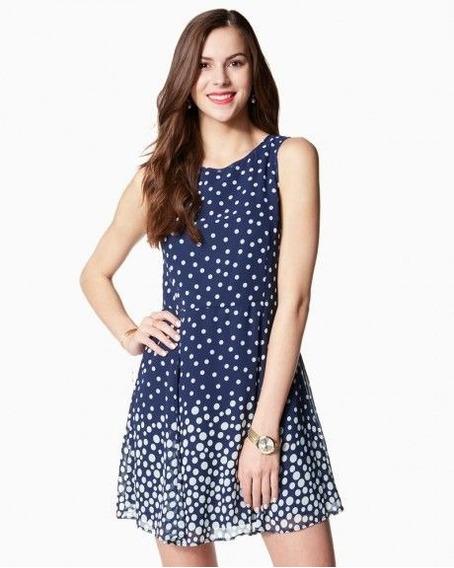Vestidos Casuales Blue Dots - Talla S