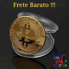 Moeda Física Bitcoin C/ Cápsula, Frete Gratis Brasil Inteiro