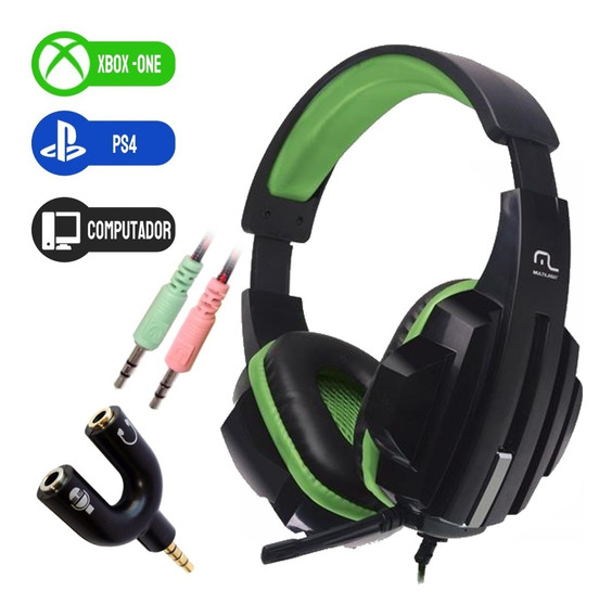 Fone Headset Gamer Multilaser Ph123 Pc Xbox One Ps4 P2 P3