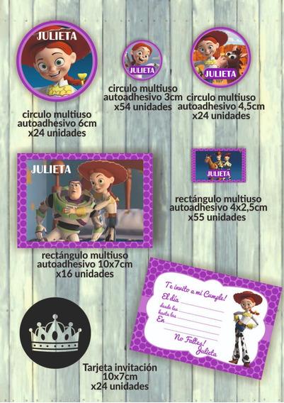 Kit Imprimible Para Candy Bar Jessy Vaquerita Toy Story