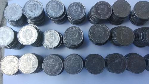 Monedas De 5 Bolívares Año 1973-1977.excelente Condición.
