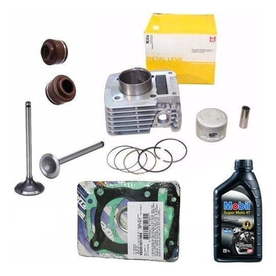 Kit Cilindro Motor+valvula+retentor Ybr Xtz 125 Metal Leve