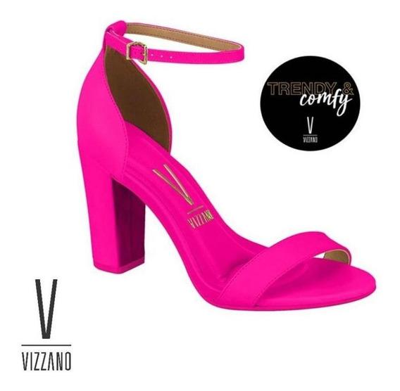 Sandália Vizzano Trend&comfy Salto Bloco