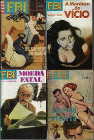 Anos 1970 - 4x Livreto De Bolso Série Fbi Editora Monterrey
