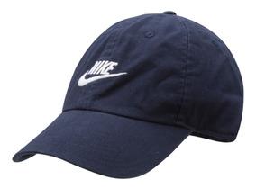 Bone Nike Preto Aba Curva U Nsw H86 Futura Washed Azul