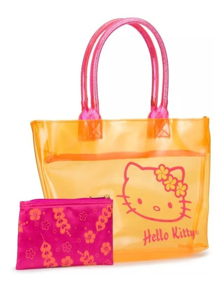 Bolsa Hello Kitty Naranja Inc. Monedero Sanrio Envio Gratis