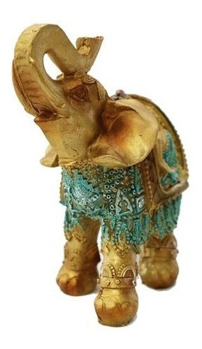 Elefante Vestido (feng-shui) - Diseño De Buda Joven - 13cm