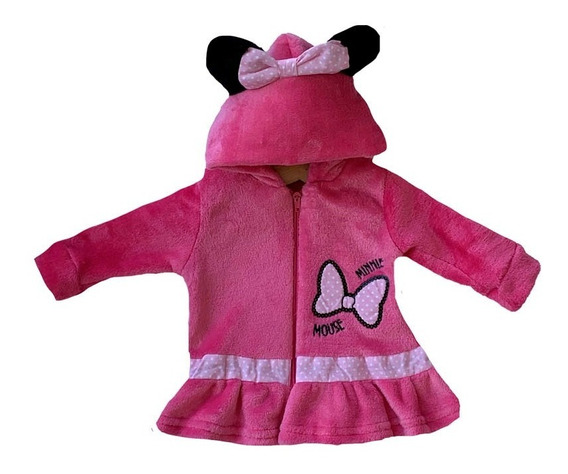 Chamarra Bordada Disney Minnie Con Gorro