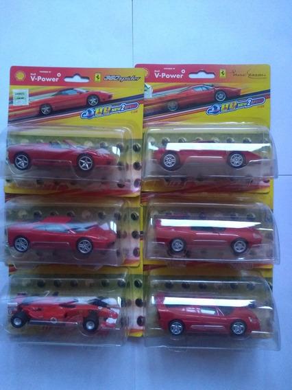 Ferrari Colección Shell 2 Velocidades Escala 1/38 Lote De 6
