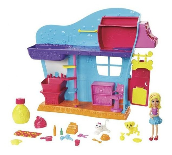 Boneca Polly Pocket Spa Dos Bichinhos Mattel - Azul