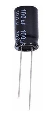 Capacitor Eletrolítico 100uf X 100v Alto Falante 1 Unidade