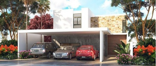 Casa En Mérida 4 Recámaras-privada Amidanah Mod C- Temozón Norte- Mayo Paneles Solares De Regalo