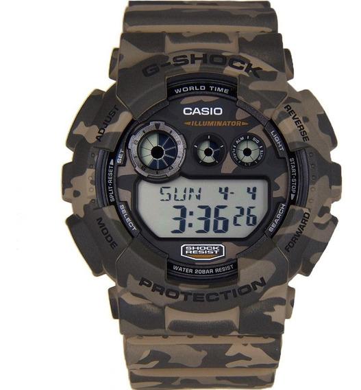 Relógio Casio G-shock Camuflado Masculino Gd-120cm-5dr