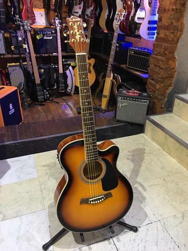 Guitarra Electroacustica Shelter Lf4000ceq Sunburst