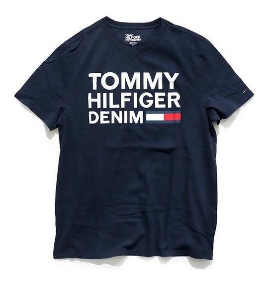 Remera Tommy Hilfigier Original Importadas Usa Azul Logo