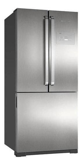 Geladeira frost free Brastemp BRO80A inox com freezer 540.6L 220V