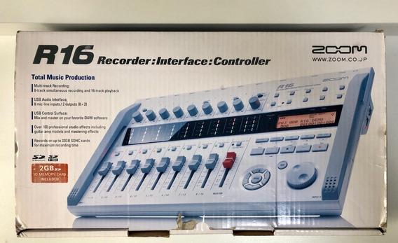 Zoom R16 Multi Track Recorder Interface Controller Estúdio